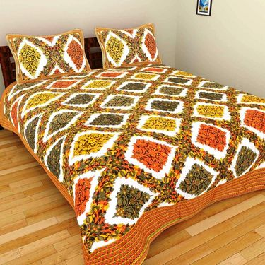 Set of 10 Double BedSheets With 20 Pillow Covers-grj-db-10-7