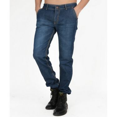 Hollister Plain Casual Cotton Jeans For Men_hldenimdb - Dark Blue