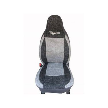 Car Seat Cover For Maruti Celerio-Black & Grey - CAR_11042