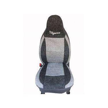 Car Seat Cover For Mahindra Quanto-Black & Grey - CAR_11034