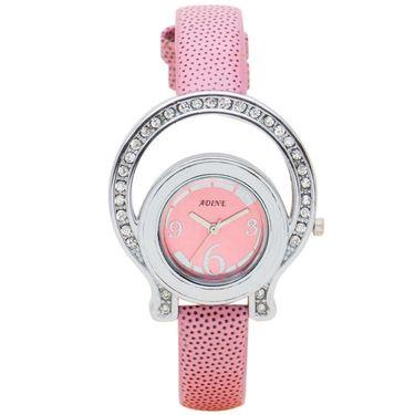 Adine Analog Wrist Watch For Women_Ad1238p - Pink