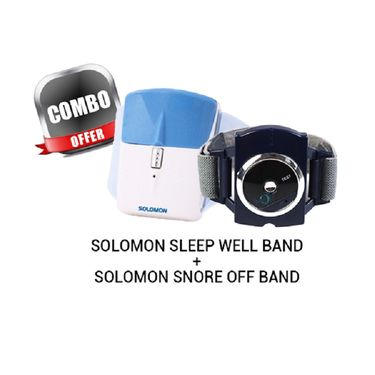 Combo Offer- Solomon Sleep Well Band + Solomon Snore Off Band