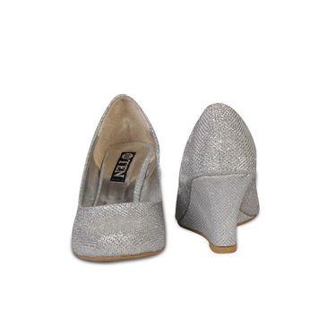 Ten Synthetic Wedges For Women_tenbl204 - Silver