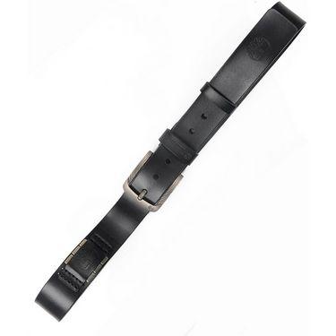Branded Casual Leather Belt For Men_tm_bk - Black