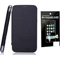 Combo of Camphor Flip Cover (Black) + Screen Guard for Micromax A210