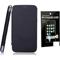 Combo of Camphor Flip Cover (Black) + Screen Guard for Sony Xperia E