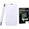 Combo of Camphor Flip Cover (White) + Screen Guard for Nokia 520