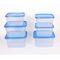Gluman 6 Pcs Set of Plastic Kitchen Storage Container Box - Sigma Blue C4