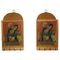 GRJ India Set of 2 Traditional & Rear Gemstone Painted Wooden Magazine and Key Hanger- SH-2-MKH4