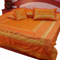 Little India Double Bedcover with 2 Cushion Cover and 2 Pillow Cover - Orange
