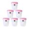 CHETAN 6 PC (5 LTR) SEAL FRESH KITCHEN CONTAINERS  Pink