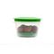 Cutting EDGE Veggie Fresh Refrigerator Storage 1500ml Container Set of 6 With Special Freshness Trays Green