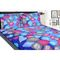 meSleep Cotton  Double Bed sheet With 2 Pillow Covers-Blue- 9011-BL