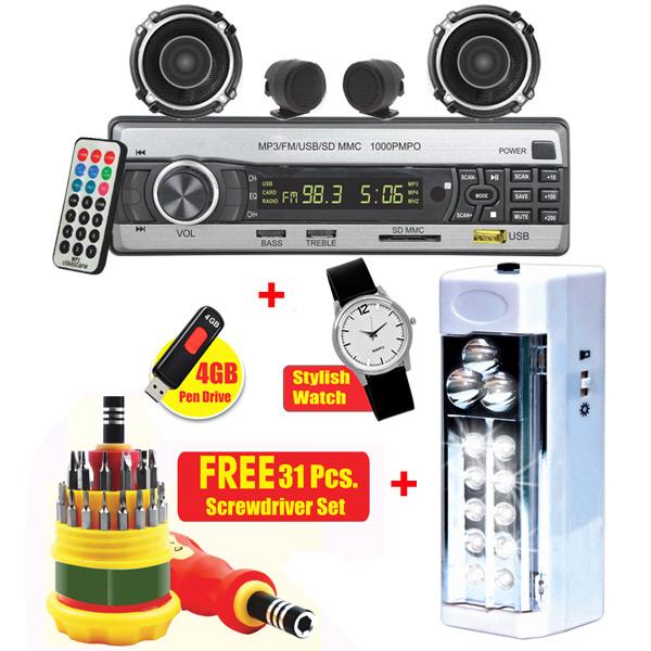 Buy Combo Of Multimedia Car Usb Player Speakers