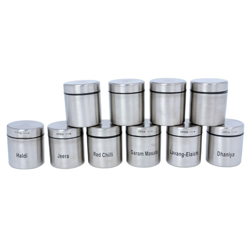 Buy 10 pieces spices canister set small online at best for Naaptol kitchen set 70 pieces