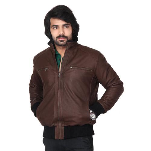 Plain Leather Jacket Mens Leather Jacket For Men