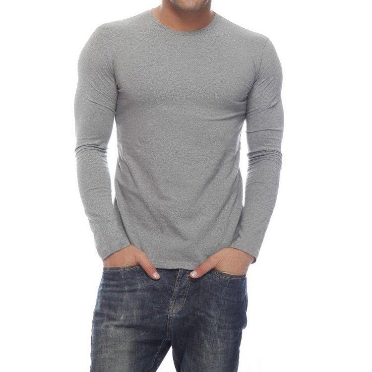 Delhi Seven Full Sleeves Round Neck Cotton T Shirt For Men