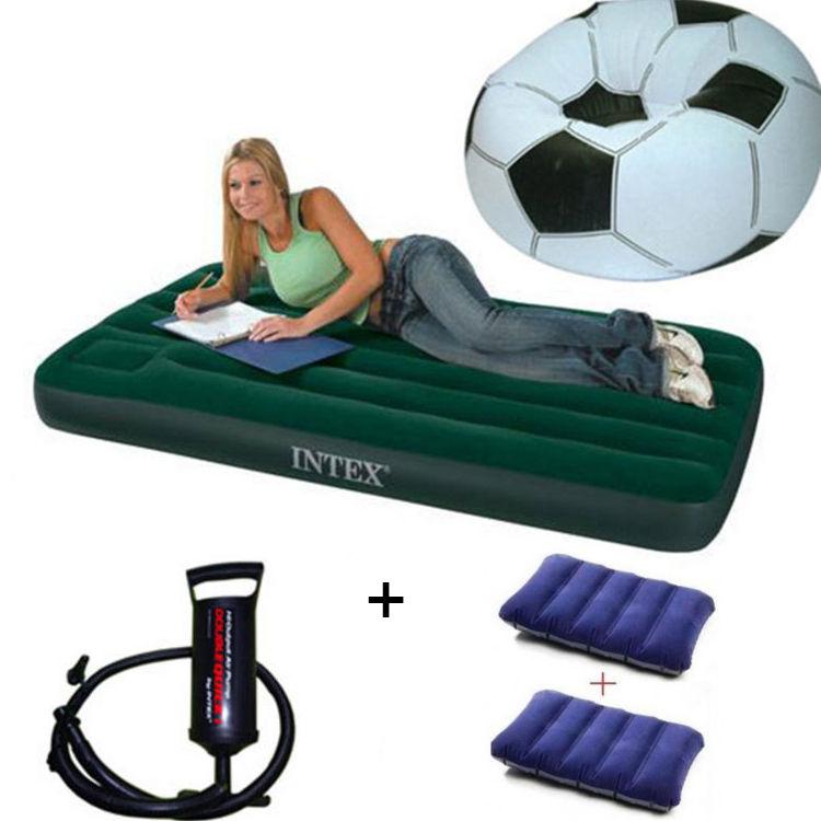 Air Sofa Naaptol: Buy Combo Of Intex Air Mattress + Football Air Bean Bag