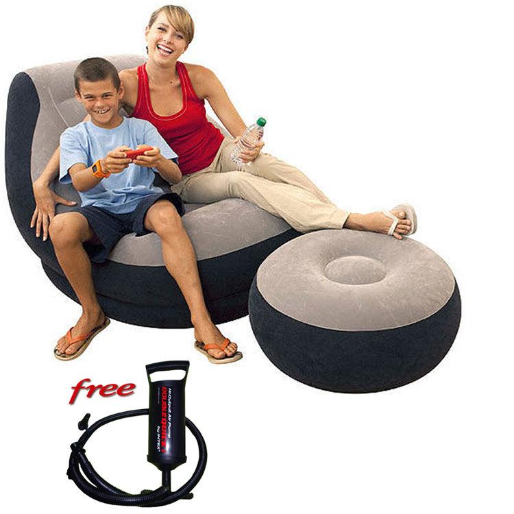 Air Sofa Naaptol: Buy Intex Ultra Lounge 2-in-1 Set Air-Filled Lounge Chair