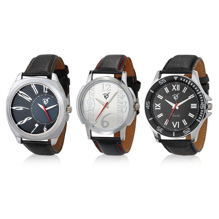 Set of 3 Rico Sordi Analog Wrist Watches