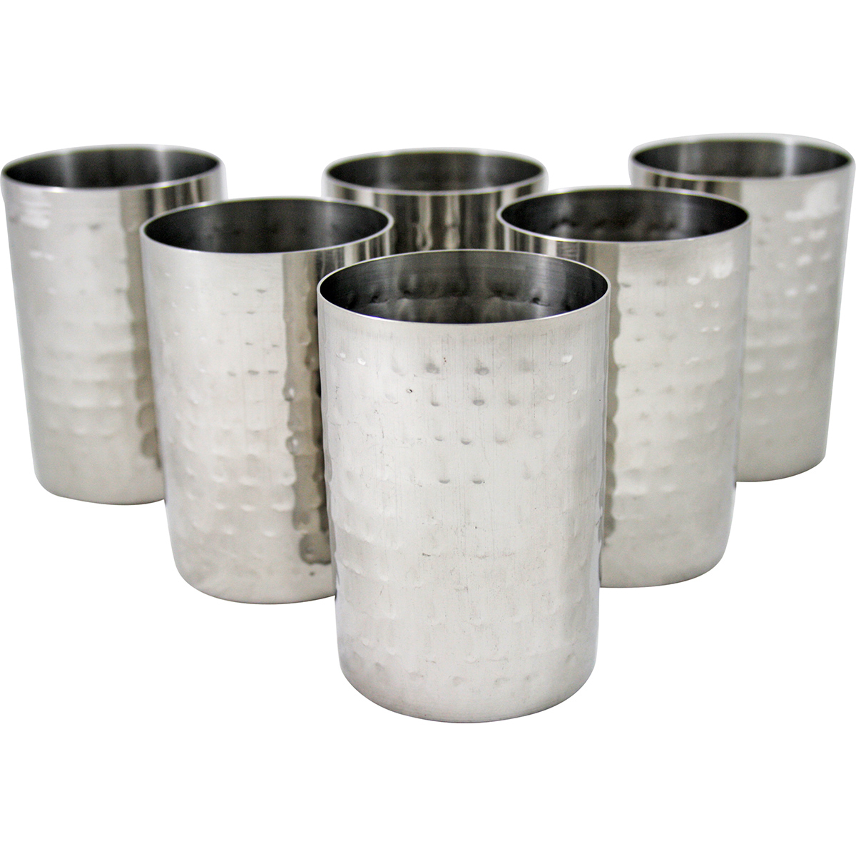 Steel Glass Set Steel Hammered Glass Set