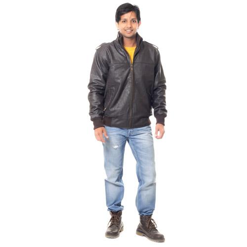 Buy Wilson Full Sleeves Leather Jacket for Men - Dark Brown Online at