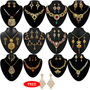 Kriaa Combo of 12 Ethnic Jewellery Set With Free Earring