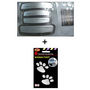 Combo Of Door Guard(White/Silver) + Foot Mark Sticker