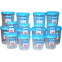 Chetan 16Pcs Twist Lock Kitchen Storage Container Set - Blue