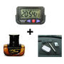 Combo Of Dashboard Digital Clock + Anti-Slip Dashboard Mat + Fresh Bottle Amber Car air freshner