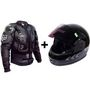 Combo of Body Armour Jacket & Full Face Helmet