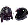 Combo of Body Armour Jacket & Full Face Helmet