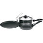 Hawkins Futura 3pcs Nonstick Cookware Set - Black QS1