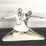 Importwala white & silver Dancing Couple 1403-1005