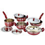 Klassic Vimal VM045 9Pcs Induction Set - Cherry Red