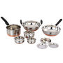 Klassic Vimal VM049 9Pcs Copper Set - Silver