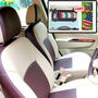 Samsun Car Seat Cover for Mahindra Scorpio  - Beige & Brown