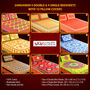 Sanganeri 4 Double & 4 Single Bedsheets with 12 Pillow Covers (4DSBS8)