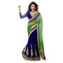 Triveni Sarees Embroidery Lehenga Saree - Blue & Green