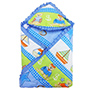Wonderkids Printed Hooded Blanket - Blue
