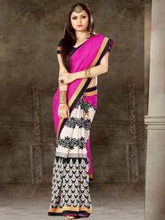 Viva N Diva Printed Bhagalpuri Silk Saree -sa07