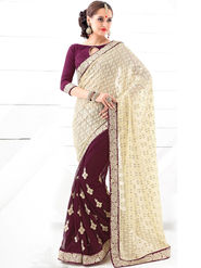 Viva N Diva Embroidered Brasso Saree -sy08