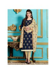 Viva N Diva Emroidered Unstiched Cotton Dress Material_11137-Elifa