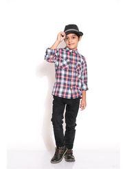 ShopperTree 100% COTTON Check Girls Shirt - Multicolour Above 4 Year