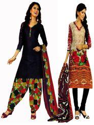 Pack of 2 Priya Fashions Cotton Printed Dress Material - PFS2CA