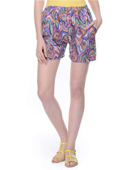 Lavennder Shantoon Printed Ladies Short - Multi_LW-5138