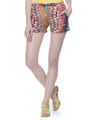 Lavennder Cotton Printed Ladies Short - Multi_LW-5150