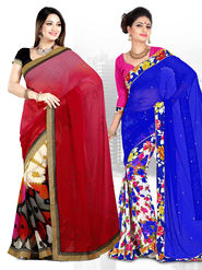 Pack of 2 Zoom Fabrics Embroidered Saree_3195 ,3226