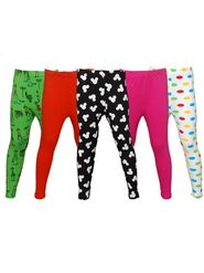 Pack of 5 Little Star Girl's Multicolor Leggings - PO5L_114