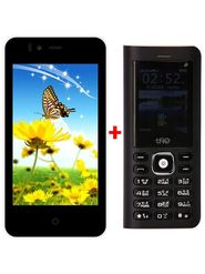 Combo Combo of Trio KitKat 3G SmartPhone (White) + Trio Super Phone cum Powerbank( Black)